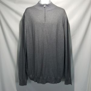 NEW Croft & Barrow 1/4 Zip Gray Sweater Men's XXLT